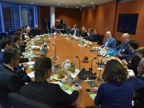 NAFFO Parlamentarisches Frühstück mit Botschafter Ron Prosor, Dr. Magnus Ranstorp und Alexander Ritzmann