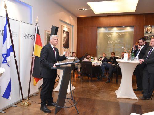Knessetmitglied Yair Lapid für NAFFO in Berlin