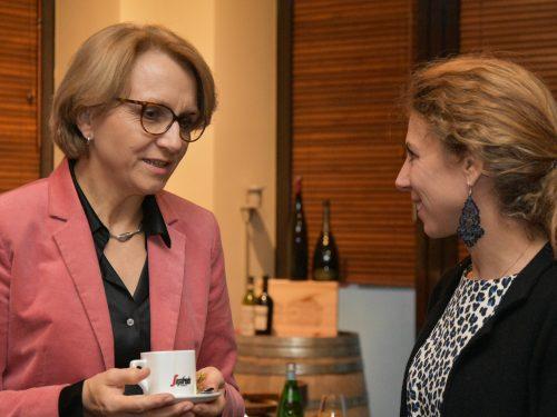 NAFFO Diplomatisches Frühstück mit Frankreichs Botschafterin Anne-Marie Descôtes