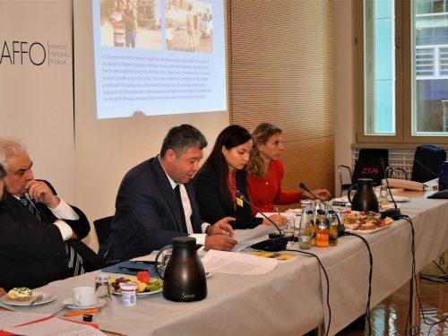 NAFFO Diplomatisches Frühstück mit Russlands Botschafter Sergej J. Netschajew und Maxim Grigoryev