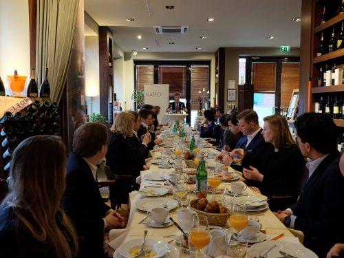NAFFO-Diplomatisches Frühstück mit dem israelischen Gesandten Aaron Sagui